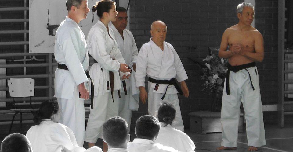 Kyoshi Hidetoshi Nakahashi Kenei Mabuni Karate Do Shito Ryu Eger Hungary 2008