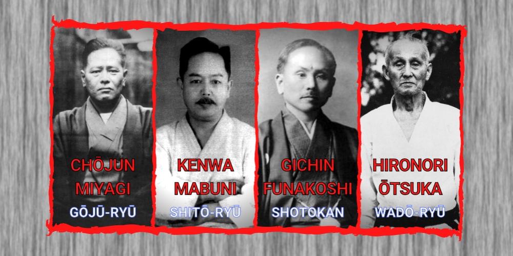 historia-karate-mistrzowie-style-shotokan-wado-shito-goju-ryu